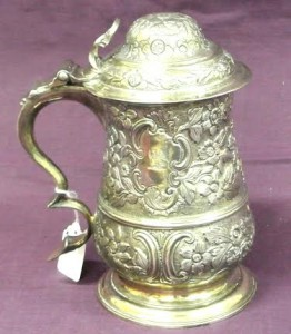 A George III London silver tankard c1768, makers mark FC