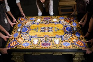 This pietre dure table top sold for a record £3.5 million.