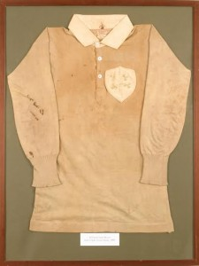The 1899 Irish rugby shirt.