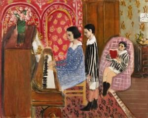 Henri Matisse - La lecon de piano.