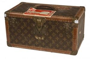 A Louis Vuitton lady's traveling vanity case.