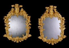 Ronald Phillips will bring a pair of English mirrors c1735. They were originally intended for the hunting lodge of the Earl of Harrington in Richmond. Each mirror tells the story from Ovid's Metamorphosis