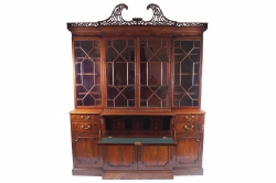 This c1790 Chippendale breakfront bookcase sold for 18,000.