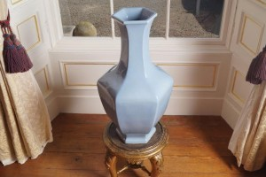 One of a pair of power blue vases which sold for 560,000 at Sheppards in September.