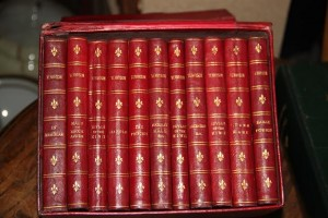 A boxed set of the works of Alfred Lord Tennyson