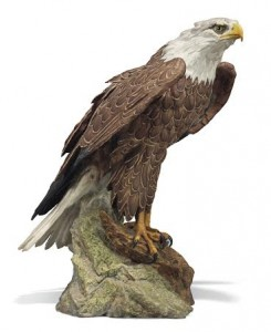A 20th century Kaiser bisque figure of an American bald eagle, modelled by Gerd Pitterkoff