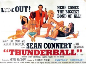 A poster for Thunderball (2,000-3,000).