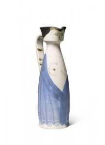 Pablo Picasso - Femme a la robe entrouverte c1955 (unique) £35,000-45,000.