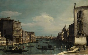 Bernardo Bellotto - Venice, the Grand Canal looking east from the Campo di San Vio