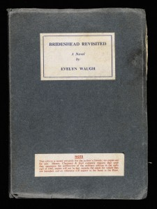 A signed prepublication copy of Brideshead Revisited.