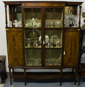 An inlaid display cabinet.