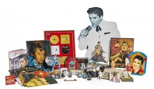 The collection of Elvis memorabilia.