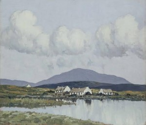 Paul Henry (1877-1958) - Connemara Village.