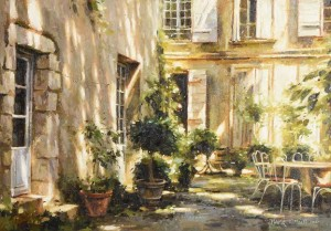 Mark O'Neill (b.1963) The Shaded Corner, Ville Franche (4,000-6,000).