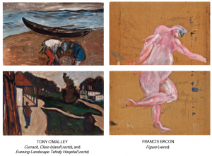 The O'Malley paintings with Bacon on the back.