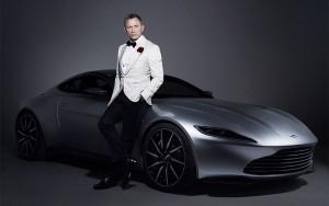 The Aston Martin DB10 with Daniel Craig.