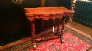 An inlaid 19th century table.
