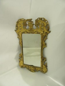 An antique Irish mirror.