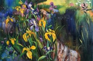 Kenneth Webb RWA FRSA RUA (b.1927) The Artist's Garden (4,000-6,000)