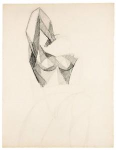 Étude d'un buste de femme, bras levé, sold for £221,000