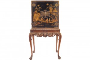 Early 20th century lacquered cabinet on stand (2,500-3,500).