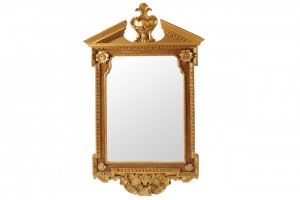 A George II parcel gilt and painted pier mirror (2,500-3,500).
