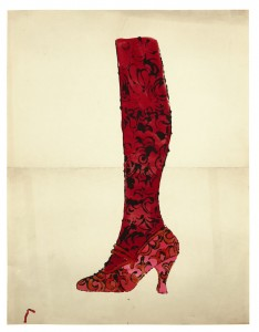 ANDY WARHOL 1928 - 1987 A LA RECHERCHE DU SHOE PERDU; AND SHOE AND LEG