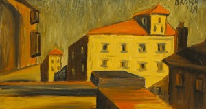 Building Tops by Christy Brown sold for 1,600