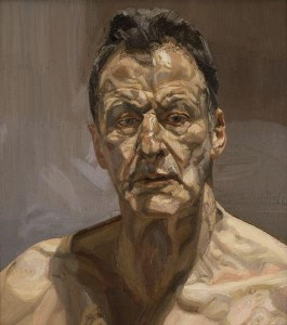 Reflection (Self Portrait), 1985 (oil on canvas), Freud, Lucian (1922-2011) / Private Collection / © The Lucian Freud Archive / Bridgeman Image