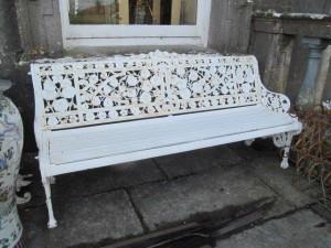 Edwardian Coalbrookdale garden seat (500-800)