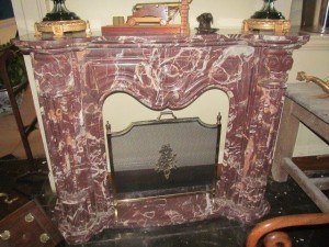 Rouge marble fire surround (1,000-1,500)