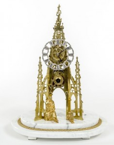 A skeleton clock (700-1,000).