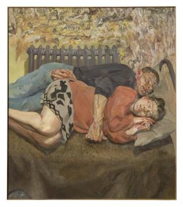 LUCIAN FREUD (1922–2011) Ib and her husband (estimate c£18 million). Courtesy Christie's Images Ltd., 2018.
