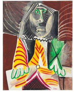 Pablo Picasso (1881-1973) Homme assis ($12-18 million). Courtesy Christie's Images Ltd, 2016