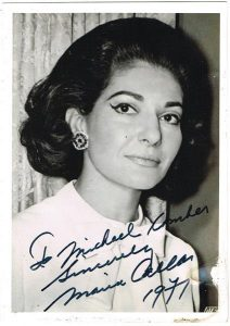 A photograph signed by Maria Callas