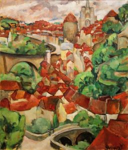 Mary Swanzy - A view of Semur en Auxois (30,000-50,000)
