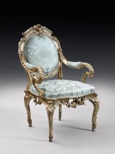 CHAIR FOR FREDERICK THE GREAT A German rococo silvered armchair, attributed to Johann August Nahl, Potsdam, circa 1744-46 (£80,000-120,000)