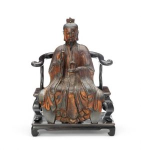 A gilt-lacquered bronze figure of Yuanshi Tianzun from the late Ming Dynasty which had been in Ireland since 1914 and was sold last November.