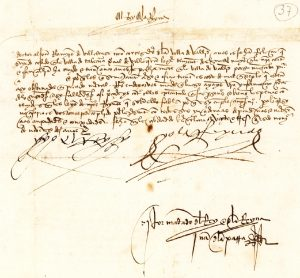 Signed order by Ferdinand & Isabella 1492