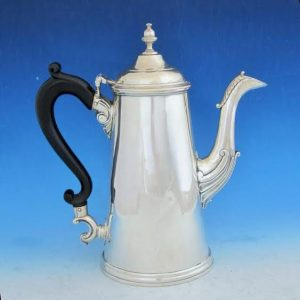 A plain Limerick silver coffee pot by Joseph Johns.