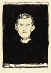 EDVARD MUNCH 1863 - 1944 SELF-PORTRAIT Lithograph, 1895