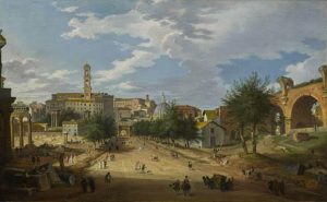 Giovanni Paolo Panini Rome, a view of the Forum looking towards the Capitol, 1751