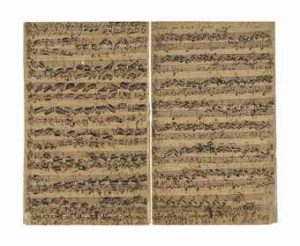 The Bach autograph music manuscript.