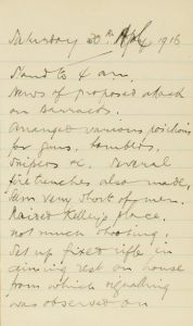 An extract from the autograph diary of Lt. Henry Douglas.