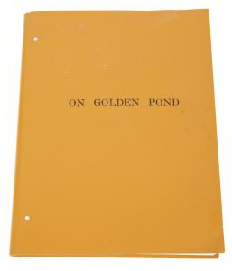 CAST SIGNED ON GOLDEN POND SCRIPT An {On Golden Pond} (Universal, 1981) - $800-1.200