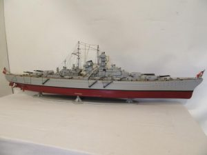 One of five large ships models