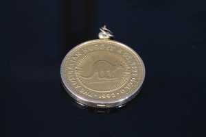 AUSTRALIAN HALF OUNCE GOLD COIN IN PENDANT FORM (400-450)