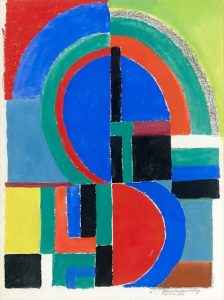 Sonia Delaunay Rythme Couleur 1966 Courtesy Hélène Bailly Gallery