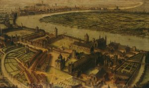 A view of Westminster c1584.