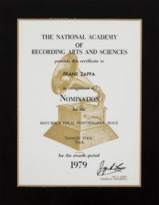 Zappa's Grammy nomination.